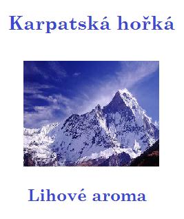 Karpatská hořká 100 ml