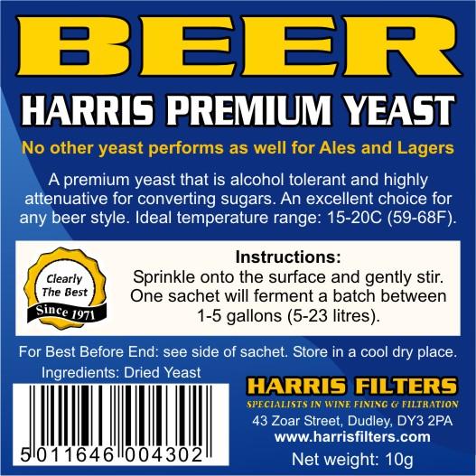 Pivní kvasnice Harris Premium na 23 litrů
