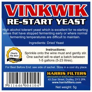 Vinkwik restart kvasnice na 23 litrů