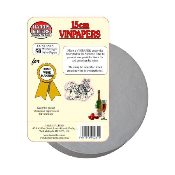 Filtrační papír na víno 15 cm - 1 kus