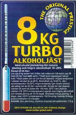8 kg Turbo kvasnice 18-20%