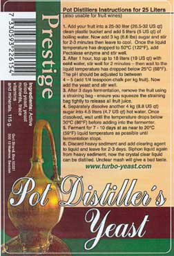 Pot Distillers kvasnice 18%