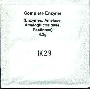 Kompletní 3 v 1 enzymy (pro obilné kvasy a tvrdé plody)