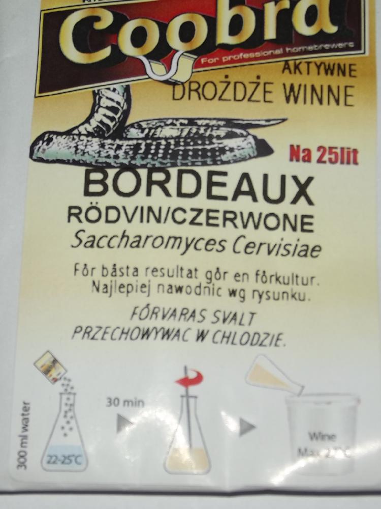 Vinné kvasinky - Bordeaux