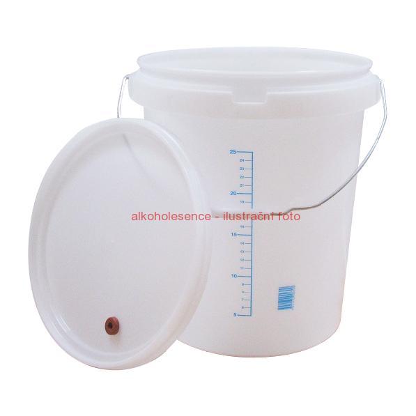 Kvasná nádoba s víkem (32 litrů) na 25 litrů kvasu