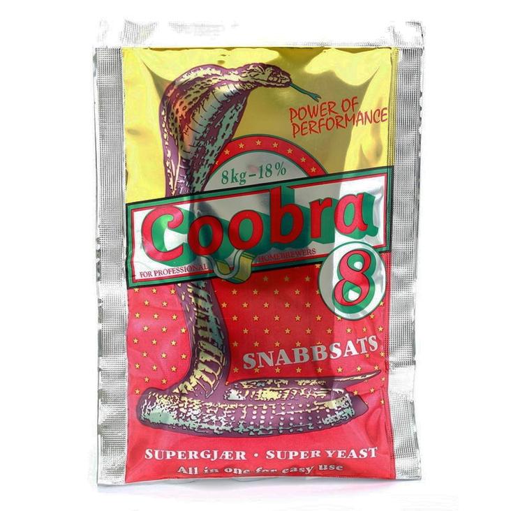 COOBRA 8 Turbo kvasnice 18% (pro cukerný kvas)