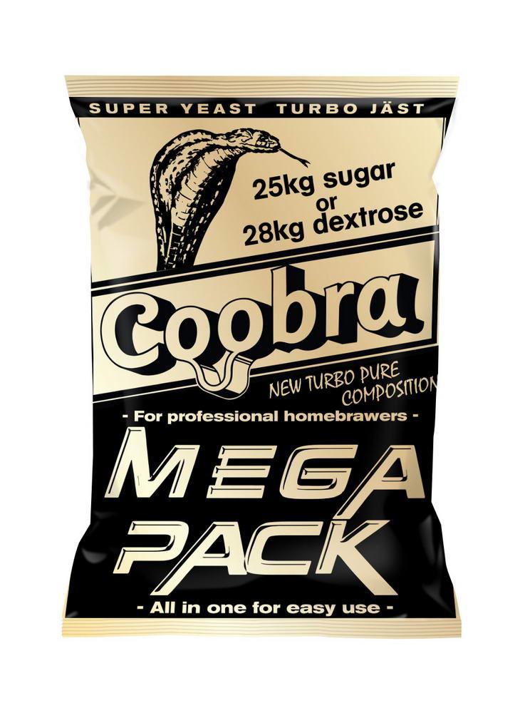 COOBRA Mega Pack kvasnice 18% (pro cukerný kvas)