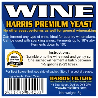 Harris Premium Wine - vinné kvasinky  18%