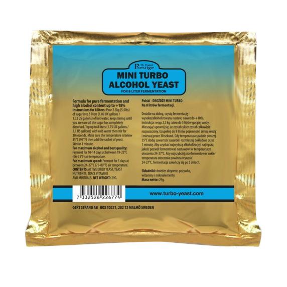 Mini Turbo kvasnice 18% (pro cukerný i ovocný kvas)