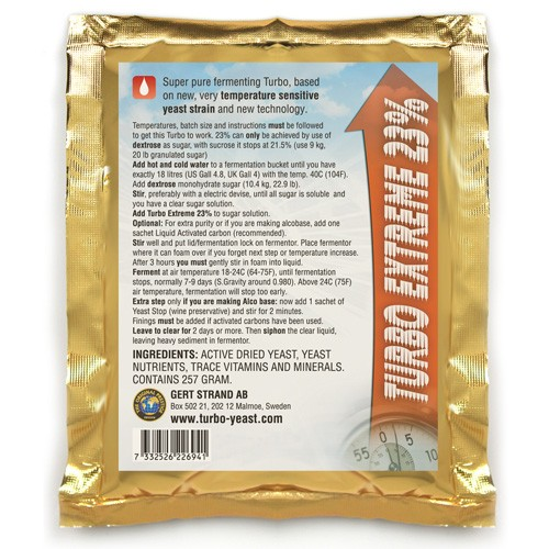 Turbo Extreme kvasnice 23% (pro cukerný kvas)