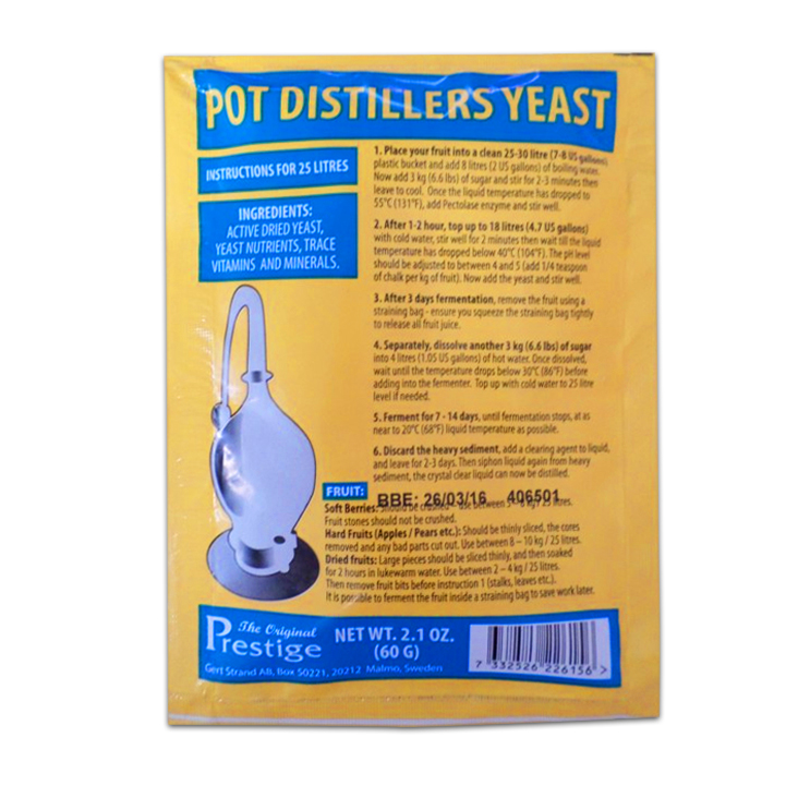 Pot Distillers kvasnice 18% (pro ovocný kvas)